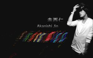 Akanishi Jin_wallpaper by KoshMaar