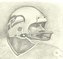 Steve Largent Sketch 001 by michaelmiller363