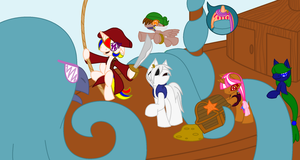 Never Steal a MerMare's Treasure WIP Part 4 by ArtisticPages