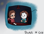 Cry and Russ play Euro truck simulator by PaperPlushie