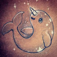 Starwhal Sketch by inki-drop