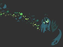 Queen Chrysalis Wallpaper - iPad Version by SycoClown
