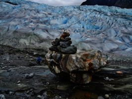 Cairn and Mendenhall Glacier by bootlacephotography