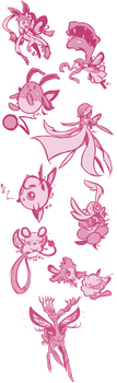 Fairy Type Pokemon by Marraphy