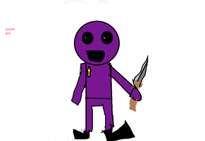 this is what  i draw ( purple man ) by goldenworldgamer