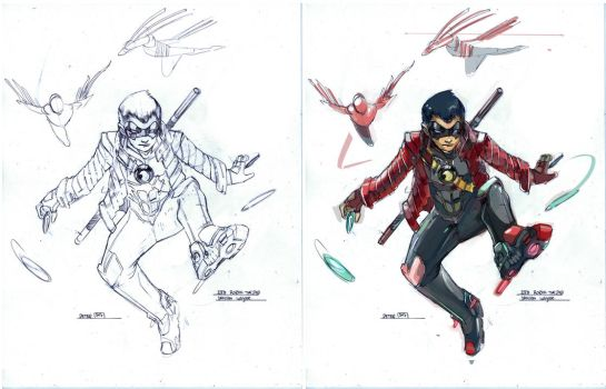 Red robin dont call me a side kick by Peter-v-Nguyen