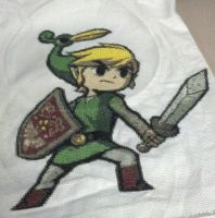Minish Cap Link Cross stitch by hyliacupcake