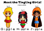 Meet the Tingling Girls! (+OTHER CHARACTERS BELOW) by Pineappa