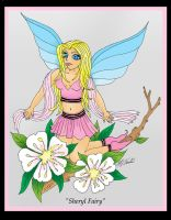 Sheryl Fairy on Apple blossoms by AmedaN