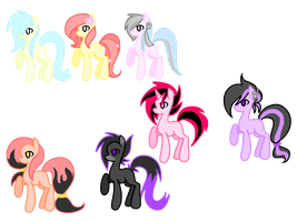 Pony Adopt Batch 1 [Close] by DeadRawr-Adopts