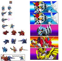 SD Gundam Force Sprites by heartlessk