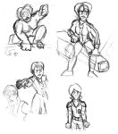 Strontium Sisters - Sketches by theadventurer