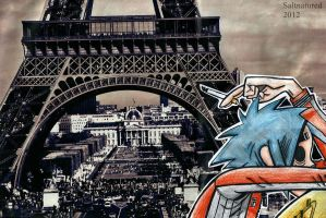 Gorillaz - 2D in Paris by Saltnatured