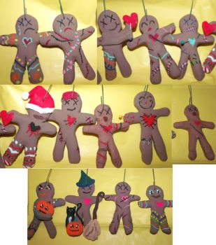 Attack of the Gingerbread Voodoo men by firecatshadowof2012