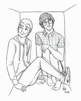 Rhett and Link in a box by StellaPollet