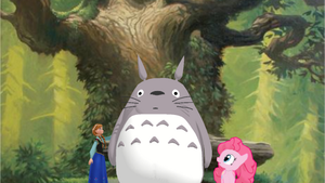 Anna, Totoro and Pinkie Pie by MarcosLucky96