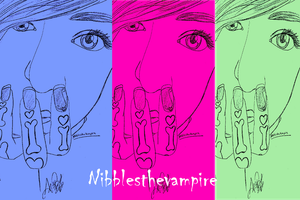 Pop Art Nibblesthevampire by camogirl88