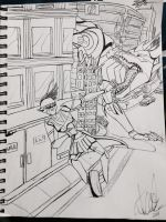 .:A Little Help Over Here!:. Traditional by Wolfchick36