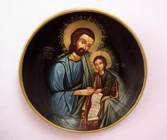 Joseph and baby Jesus by GalleryZograf