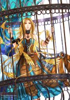 Commission : Caged Angel by Nacrym