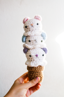 Triple Scoop Bear Amigurumi by tiny-moon