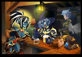Tavern in Lineage II by Mephitis13