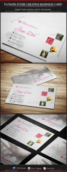 Flower Store Creative Business Card by madebygb