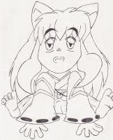 Baby Inuyasha by winded-wolf