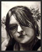 Me in charcoal by Tiny-Owl