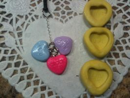Valentine's day candy phone charm by muffinthehamster11