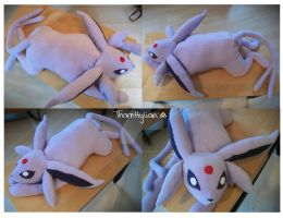 Fleece Espeon Plushie by ThornHylian
