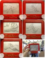10 hands and a guy etchasketch by pikajane