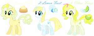CLOSED Citrus Trio - Pony Adoption by Chimajra