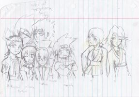 Tales of Symphina Characters as Naruto Characters by Jacklave