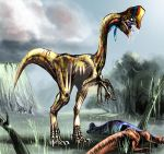 Sick oviraptor by highdarktemplar