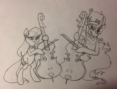 Devil Went Down To Ponyville - WIP COM by ameliacostanza