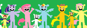 The Mane Six in Happy Tree Friends Style by HTF-432