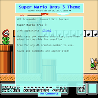 Super Mario Bros 3 Journal Skin by Retro-Specs