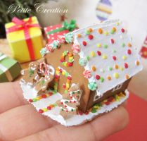 gingerbread house miniature 2 by PetiteCreation