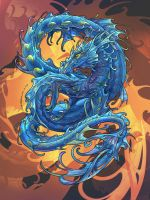 Water Dragon by RuaCharl
