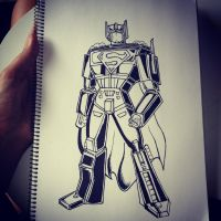 Superman And Transformers. by DrawMEGA