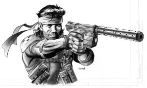 Solid Snake by LostonWallace