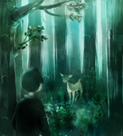 Fawn and Forest by Pochi-mochi