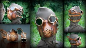Steampunk Goggles and Mask by DorianPipes