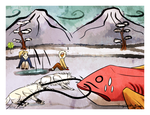 Pulling in a Whopper --- SotA Ice Fishing Collab by DarkHeartSeer
