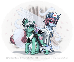TouHou Ponies - One and a Half Ghosts by InuHoshi-to-DarkPen