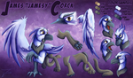 Reference Sheet - James Corck the Gryphon by jamescorck