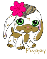 Littlest Pet Shop Puppy by rayayakuza