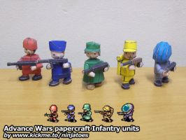 Papercraft Advance Wars Infantry units by ninjatoespapercraft