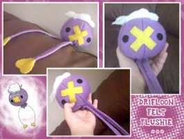 Drifloon Felt Plushie by veggiefriends